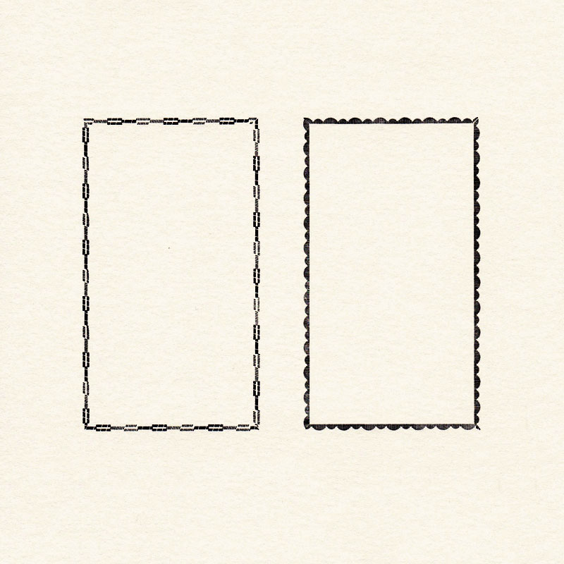 囲み枠用飾り罫(45×80mm)2種類